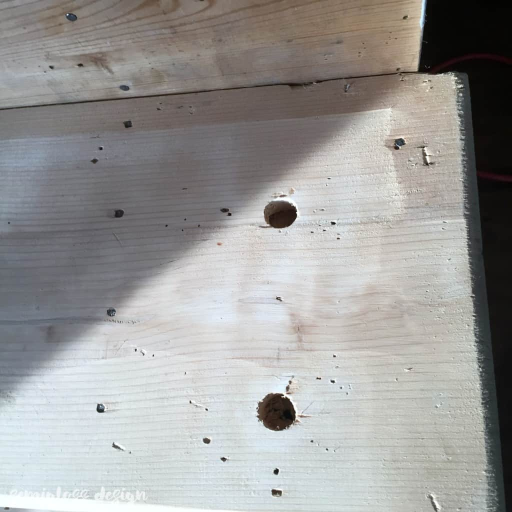 holes in stairs after removing spindles