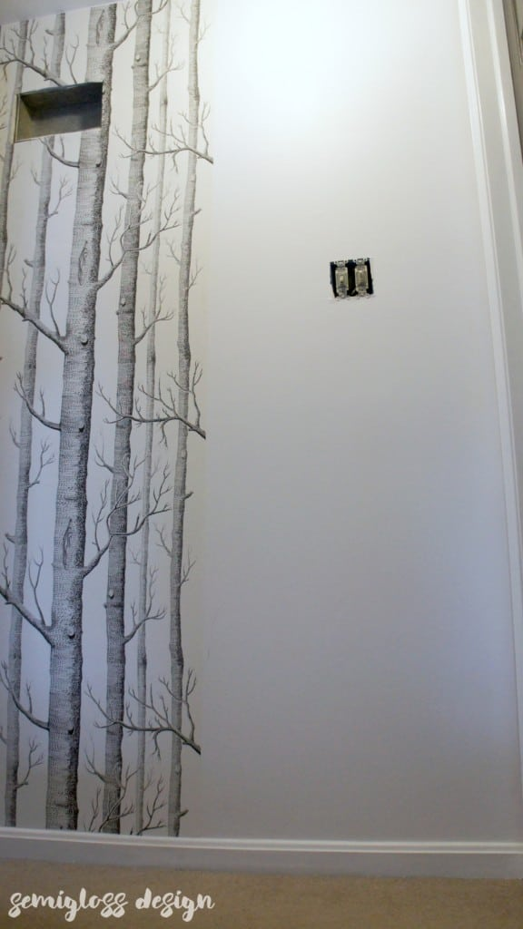A step by step guide for how to wallpaper. Plus a bonus tip for measuring so that you don't mess up like I did!