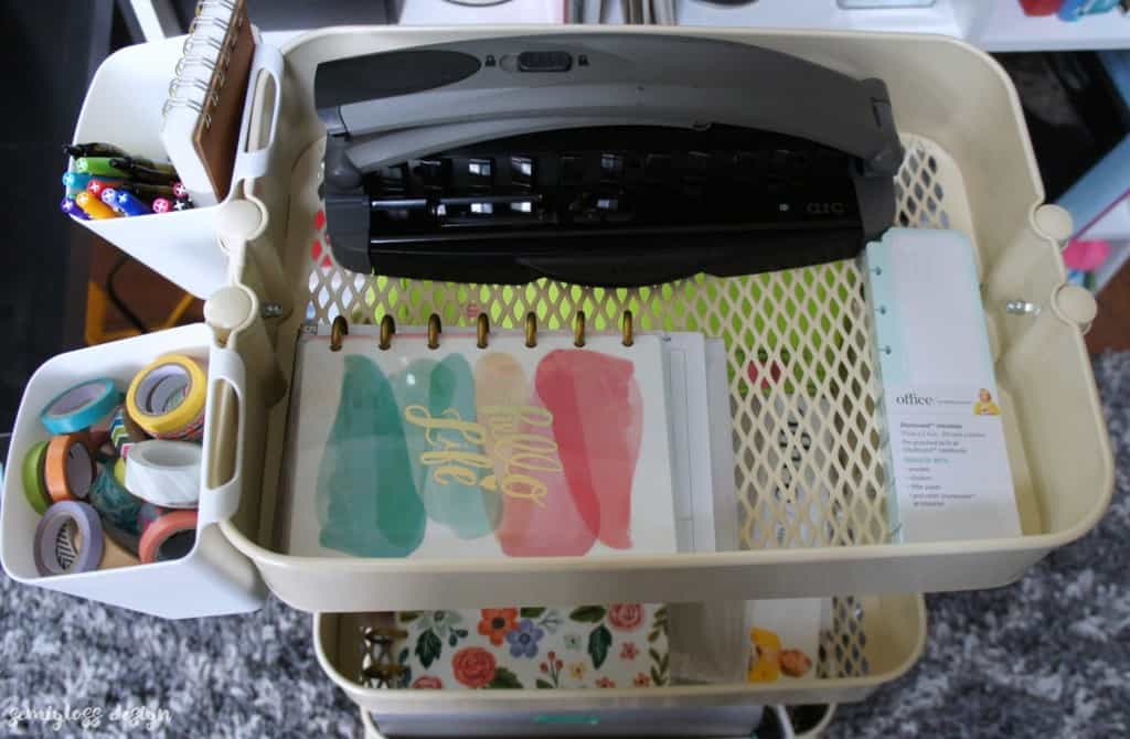 Two raskog cart ideas to organize hobbies. Great way to organize art supplies and planner supplies.