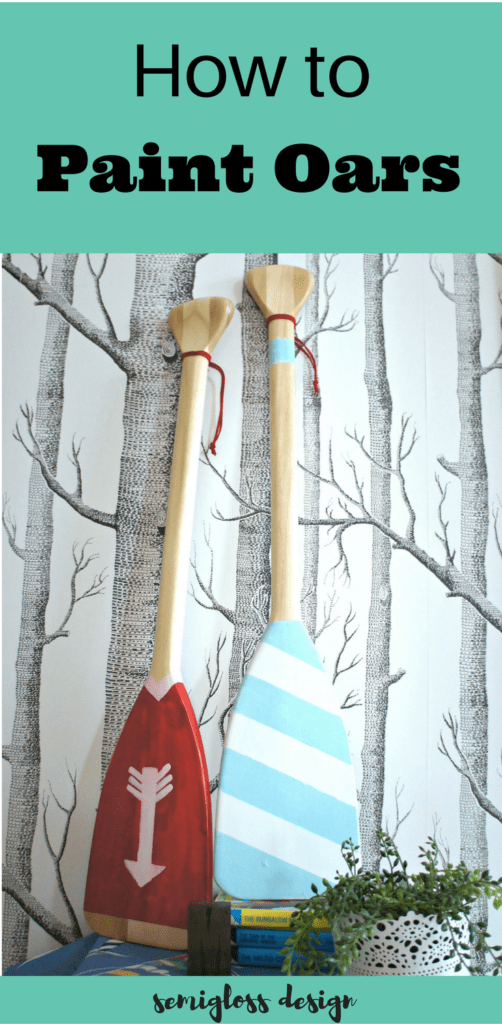 Painted Oars For Decoration