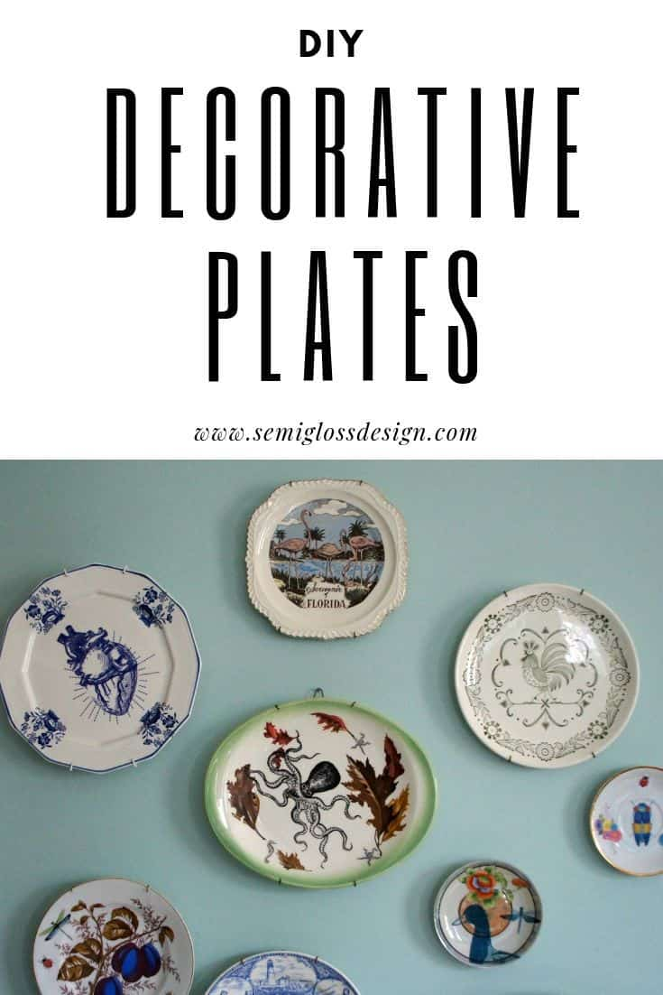 DIY decorative plates