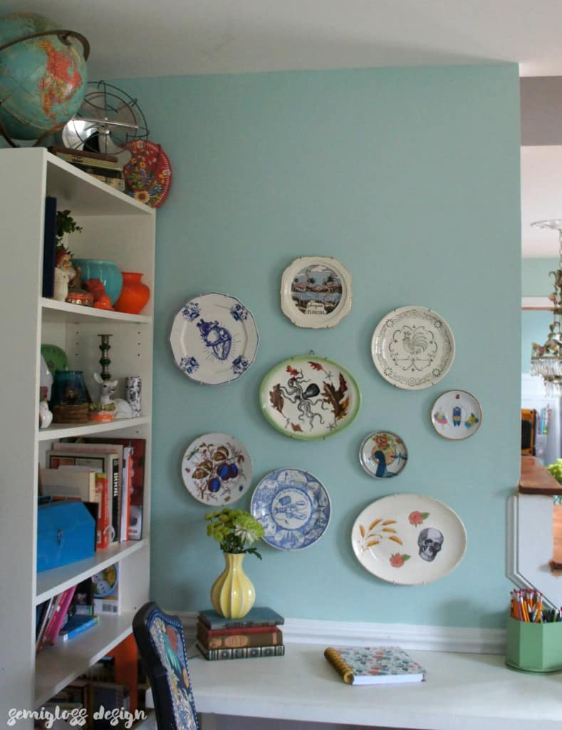 Make your own decorative plates for a unique plate wall. This easy DIY is the perfect way to add unique personality to your decor!