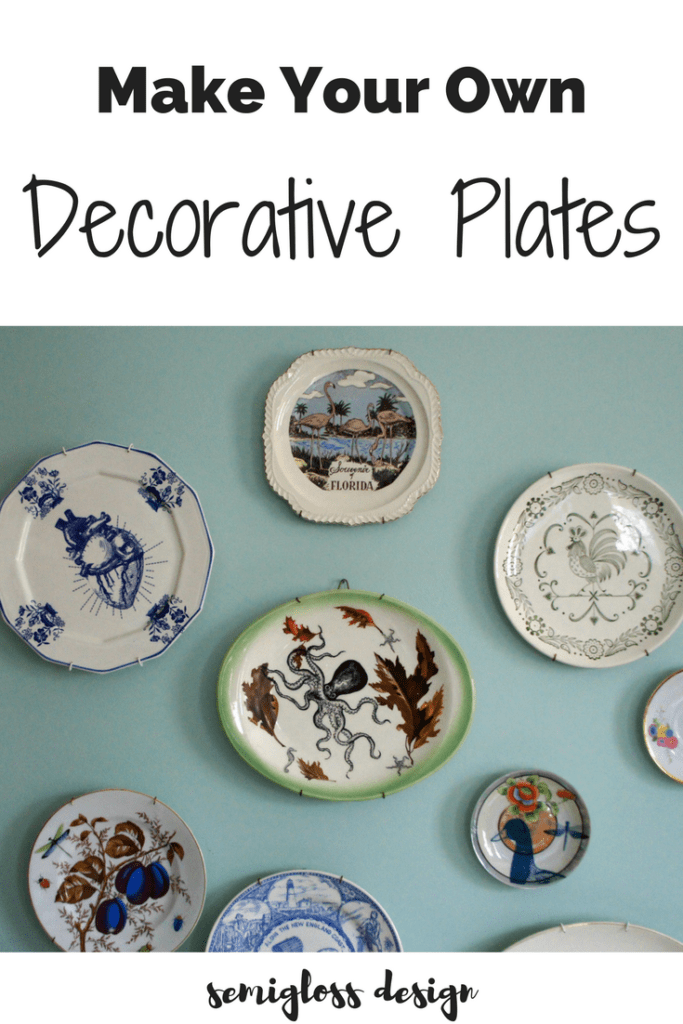 Make Your Own Decorative Plates Semigloss Design - Make your own decals