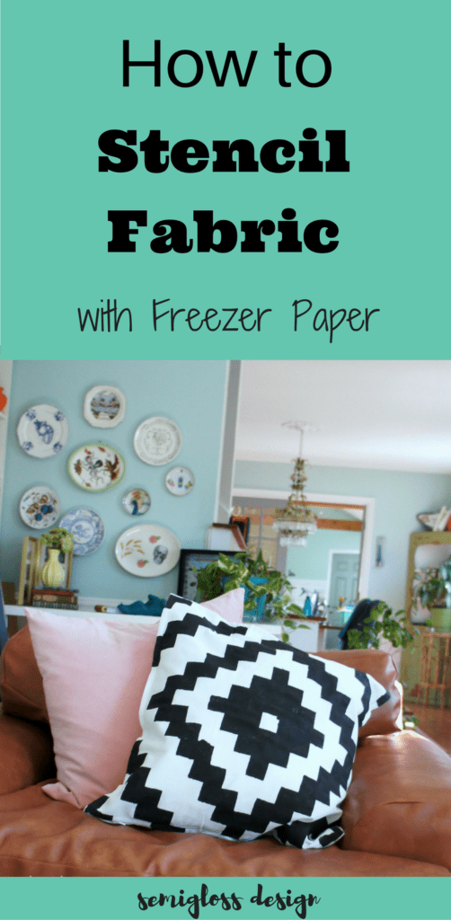 A freezer paper stencil is an easy way to make easy DIY home decor on a budget! This is the easiest way to stencil fabric!