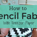 How to Freezer Paper Stencil a Pillow Cover