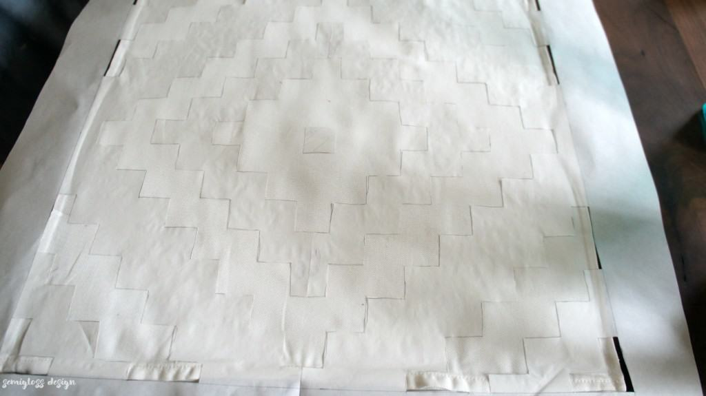 How to Freezer Paper Stencil a Pillow Cover - Semigloss Design