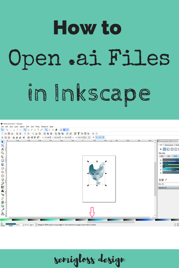 Open and edit .ai files with Inkscape, the free vector program that's easy to use.