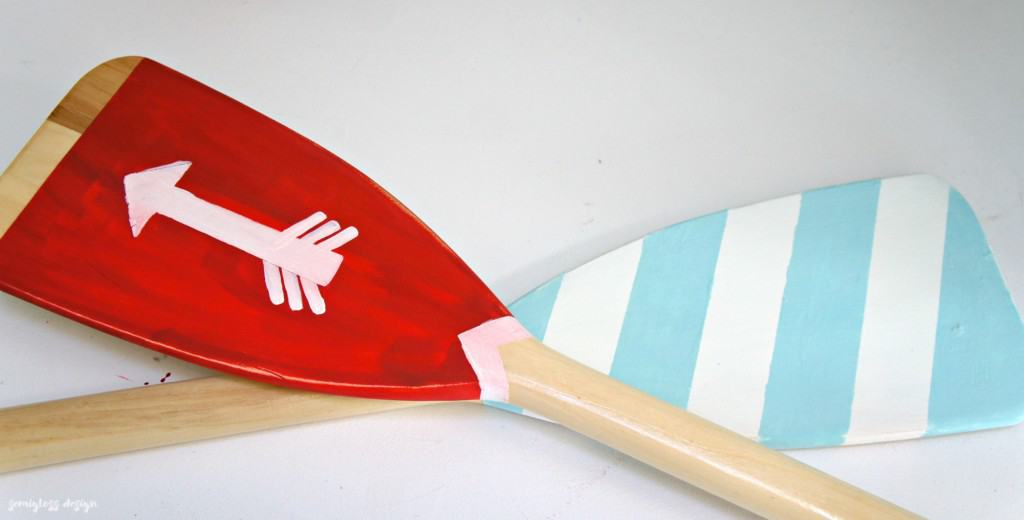 Add a fun touch to your home with painted oars. This easy DIY project can be done in a few hours!