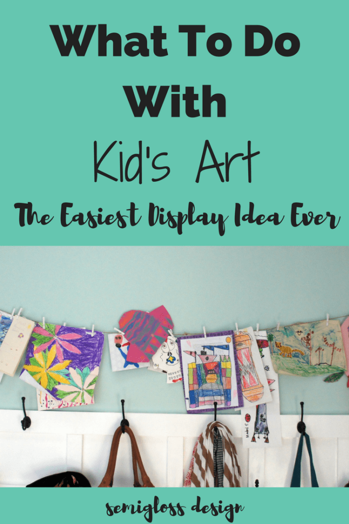 Struggling with what to do with kid's art? This is the easiest kid's art display idea ever!
