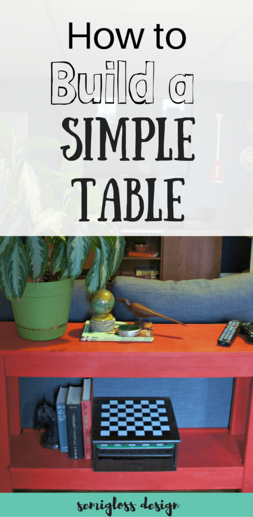 How to build a simple table