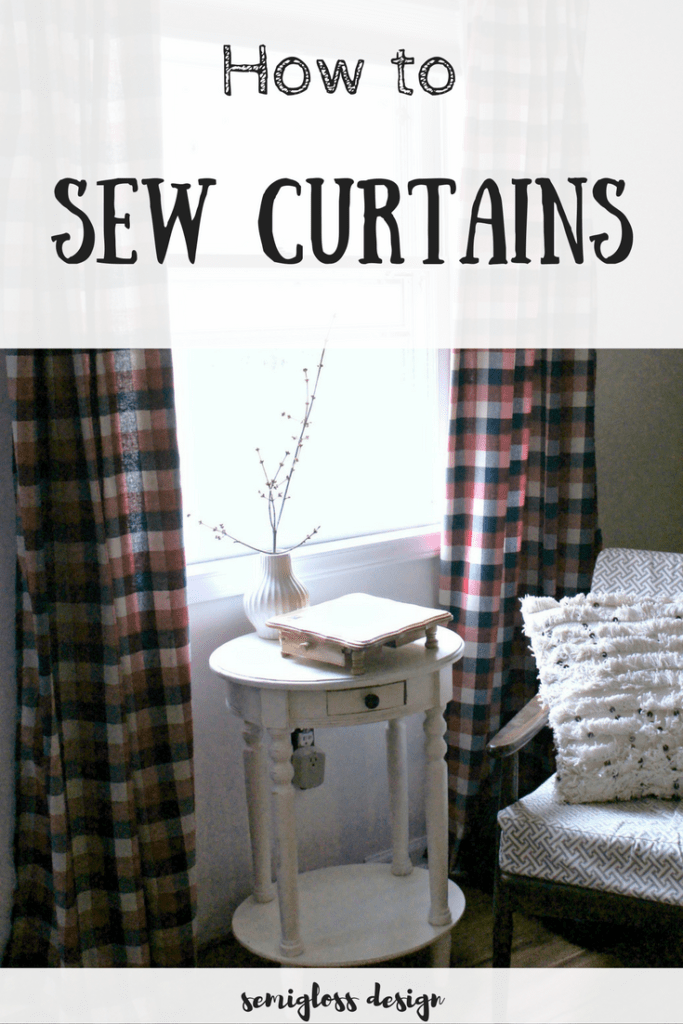 How to sew curtains with tabs