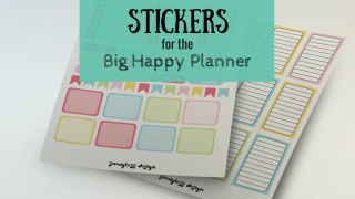 Spring colored Big Happy Planner stickers