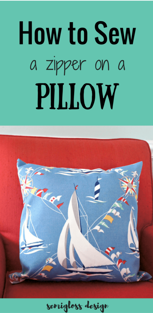 How To Make A Decorative Pillow With A Zipper : How to Sew a Pillow with a Zipper: You Can Do It! - semigloss design