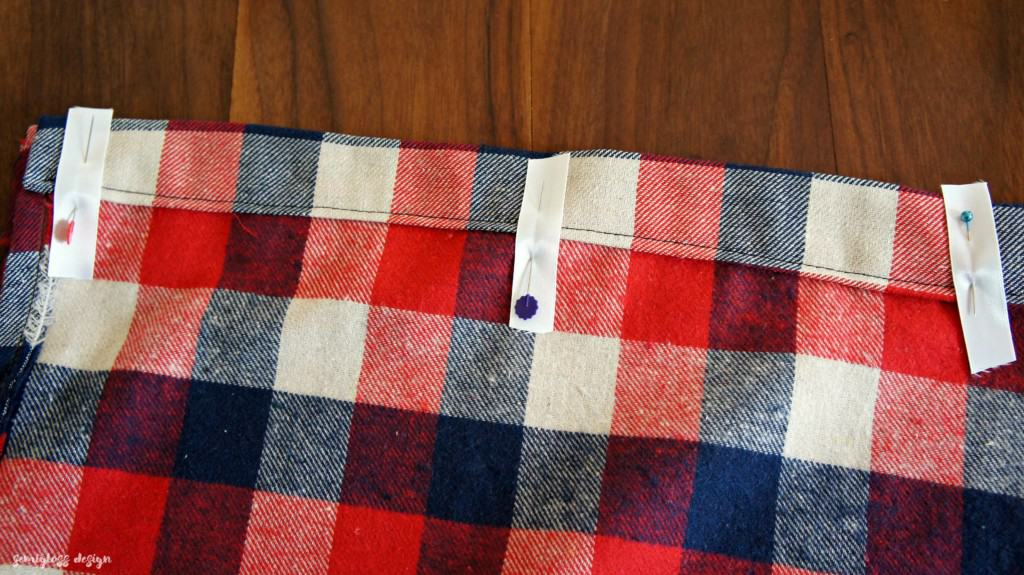 sewing tabs on curtains