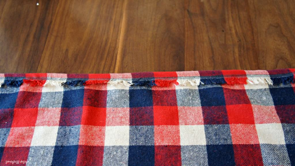 sewing plaid curtains