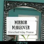 Boho Inspired Mirror Makeover with a Stencil