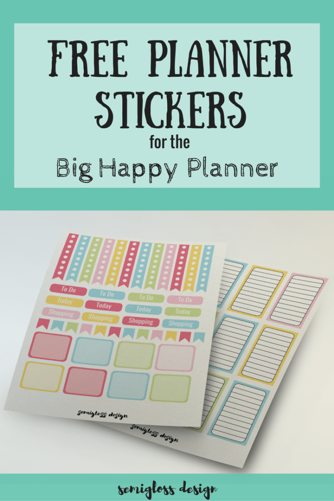 Get your free happy planner stickers today! These easy to use printable stickers fit the big happy planner and make organizing your planner fun!