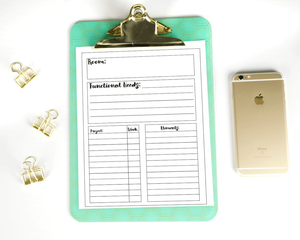 Learn my project planning process for the One Room Challenge and get a free printable project planner to organize your own projects and room makeovers!