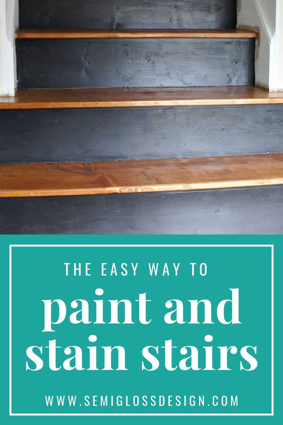 the easy way to stain and paint stairs