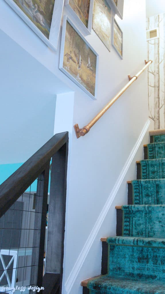 Super Easy DIY Stair Handrail Made From Copper Pipe