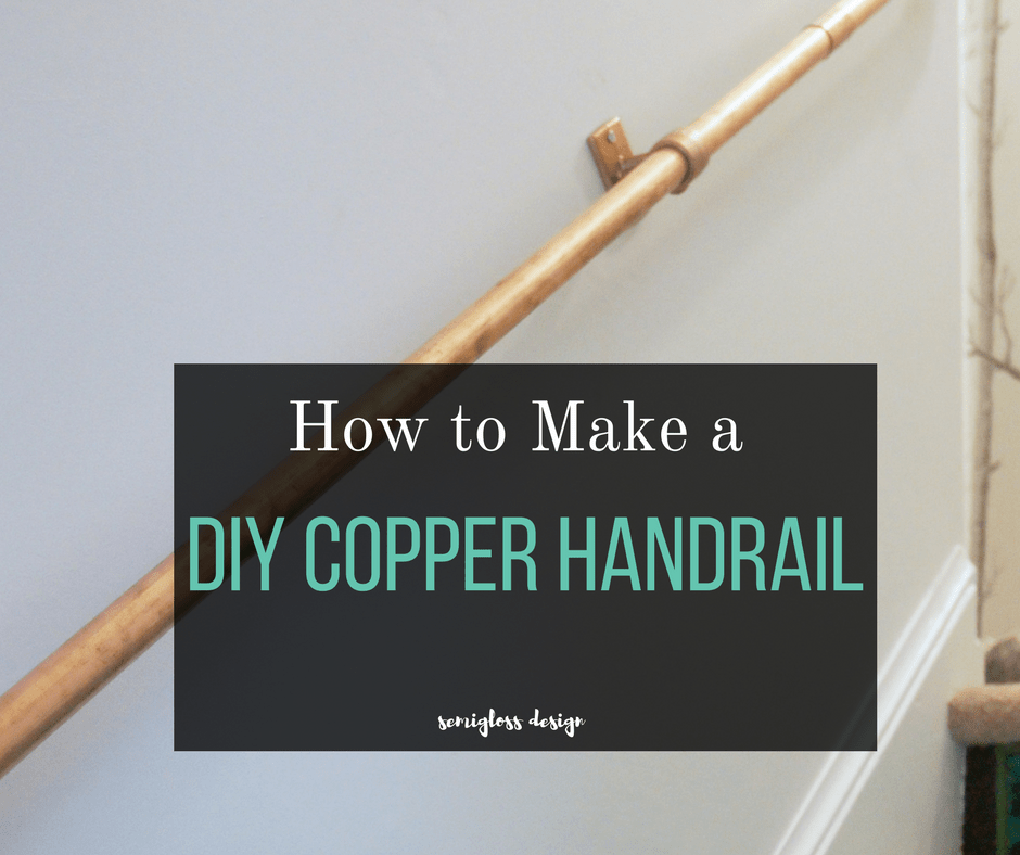 Don't settle for a mediocre handrail! Make your own DIY stair handrail with copper pipe! This easy, inexpensive project adds a modern touch to your stairs! #handraildesign #handrailstaircase #copperpipe #stairway