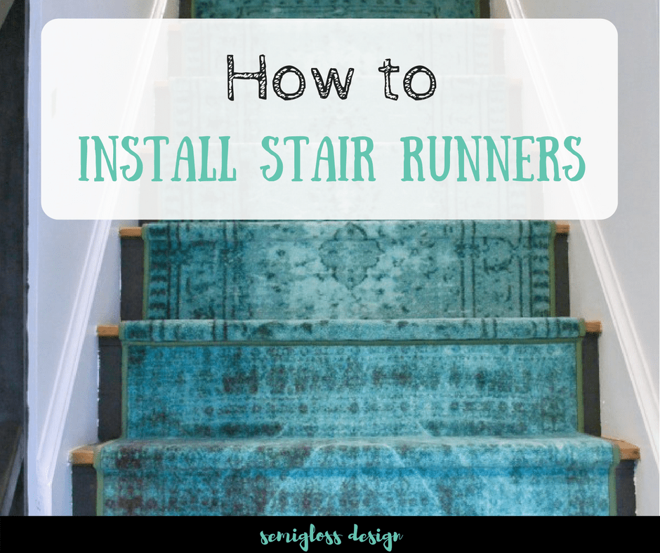 how to install stair runners