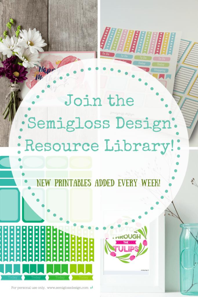 Free Printables and Design Resources - Semigloss Design