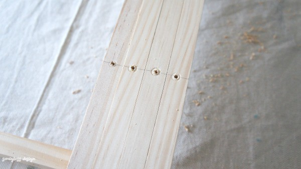 align wood and drill holes