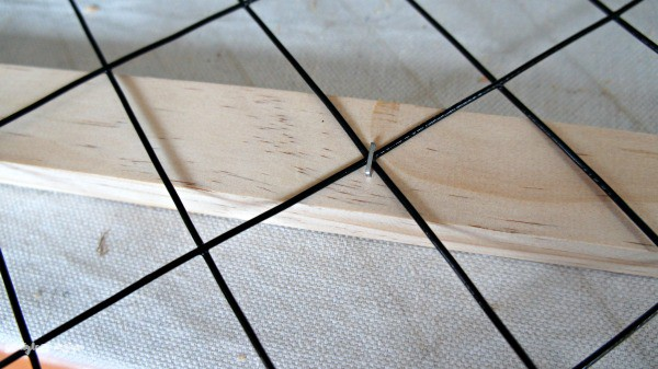 stapled grid in place
