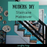 Must See Modern DIY Stair Railing Makeover Tutorial