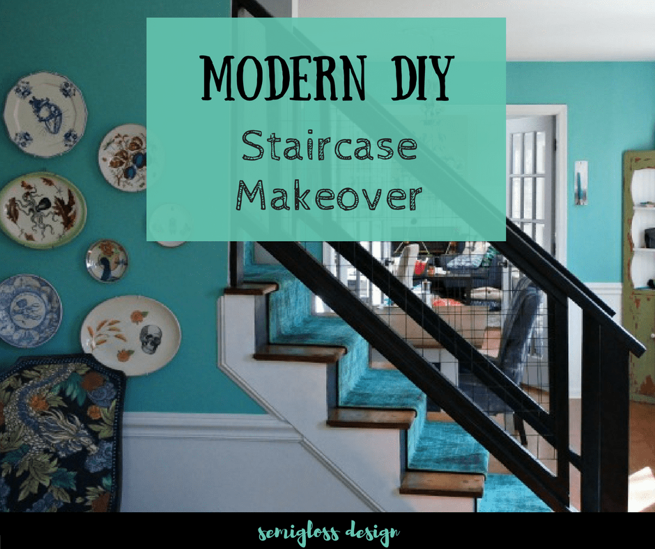 Check out this DIY stair railing makeover. Update your home with this modern DIY tutorial.