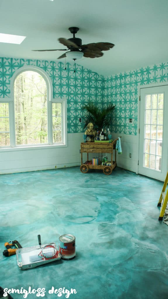 how to stain concrete floors with acid stain