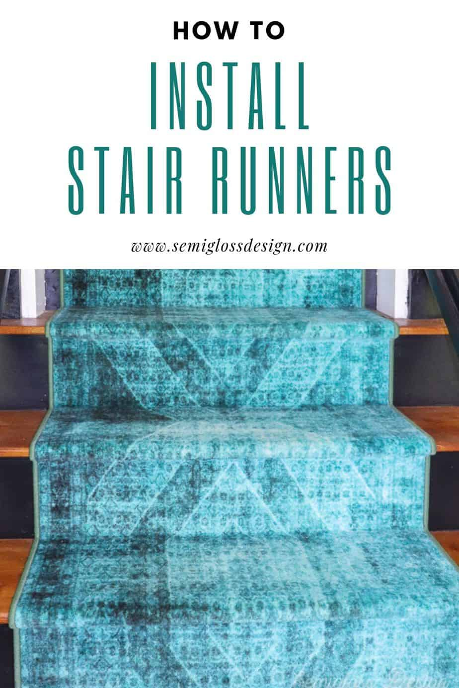learn how to install stair runners