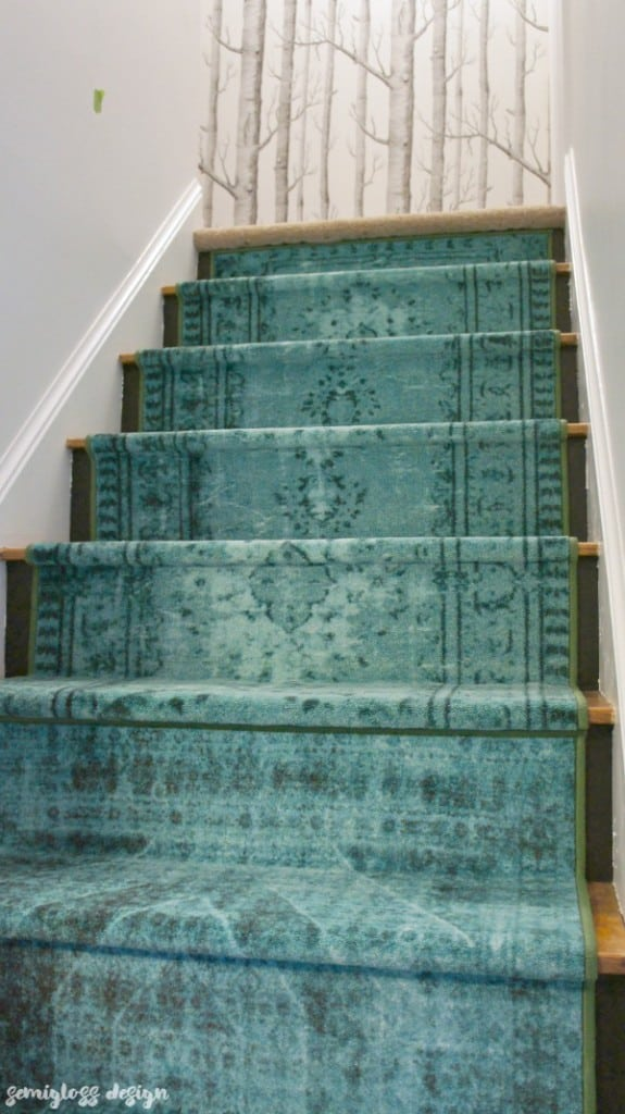 Learn How To Install Stair Runners Using Normal Floor Runners. This Easy  DIY Project Can