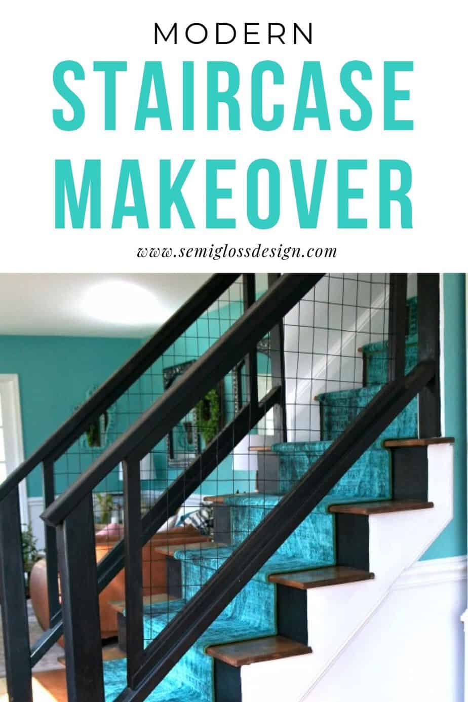 modern staircase makeover