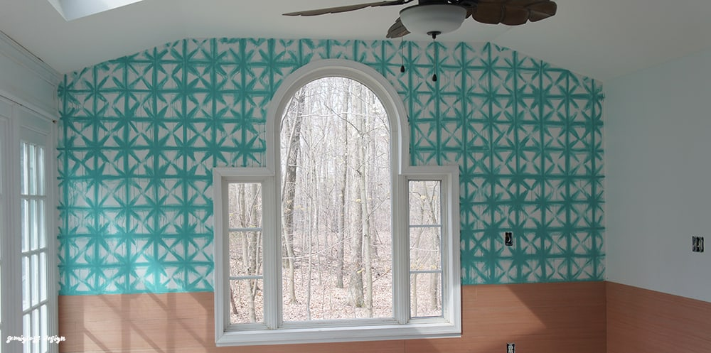 ORC: Painted Shibori Walls in the Tropical Sunroom