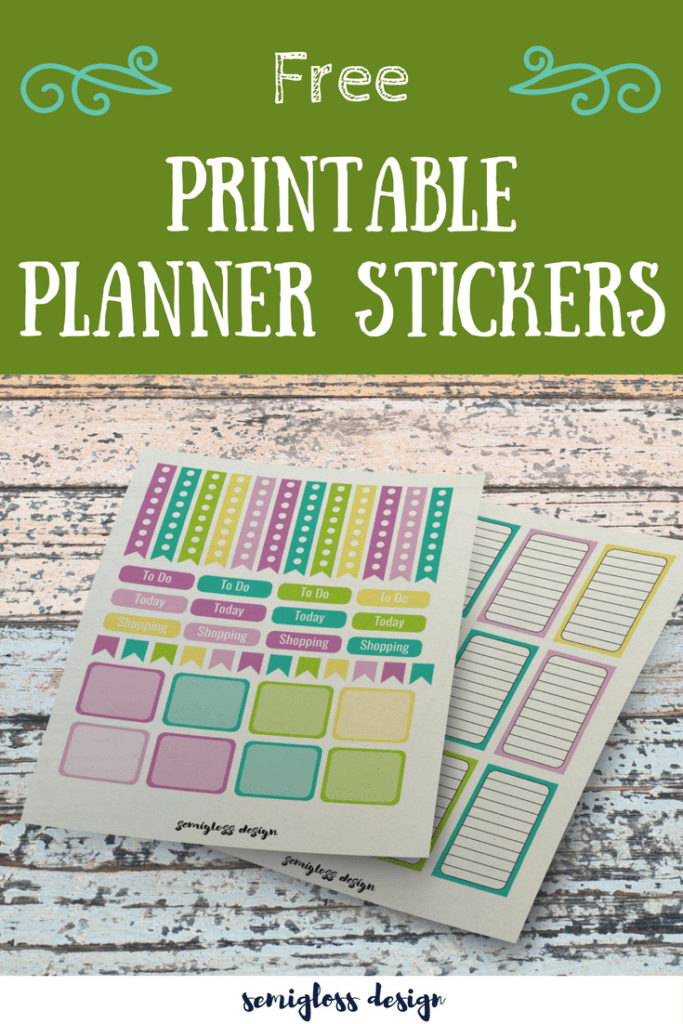 Make your planner pretty with free printable planner stickers.