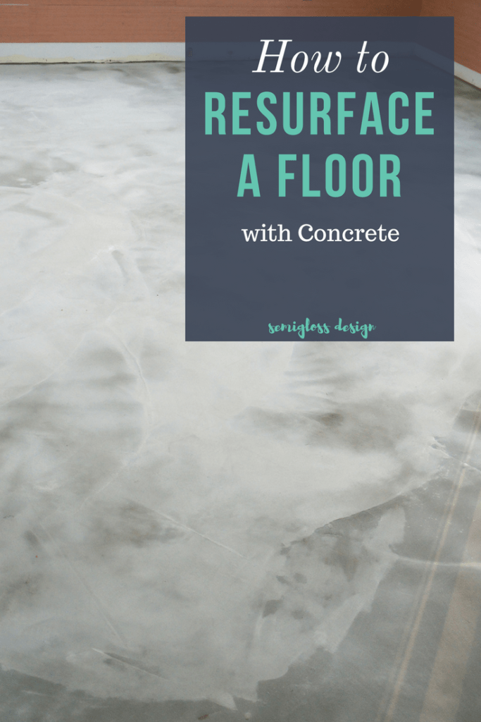 Hot to resurface a floor with concrete. Update your floors with beautiful concrete!