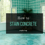 stain concrete floors | DIY stain concrete floors | Acid stain | blue concrete floors | turquoise stained concrete #concreteflooring #concretestain #stainconcrete #kemiko