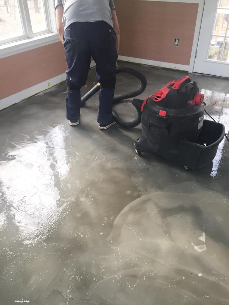 Diy stained concrete floors are so easy semigloss design for How to clean cement floor
