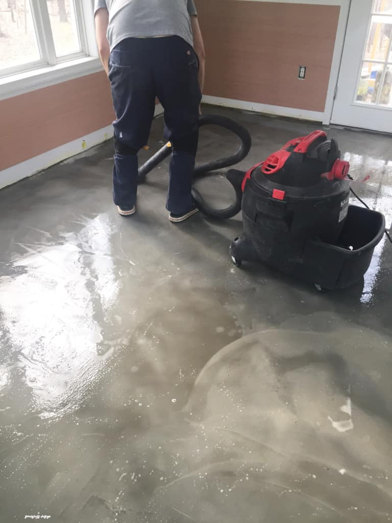 Diy stained concrete floors are so easy semigloss design for Basement concrete cleaner