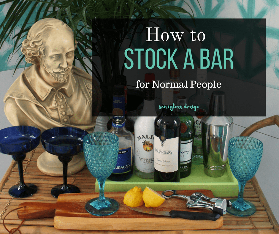 A simple list to help you stock a bar. This minimal list is all you really need.