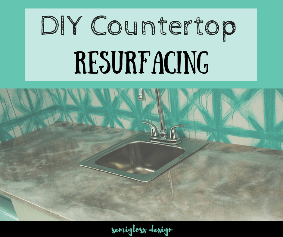 Check out this amazing DIY countertop resurfacing method to make your ugly countertops beautiful! This budget friendly product is so much fun to use!