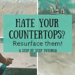 pin image - countertop resurfacing collage