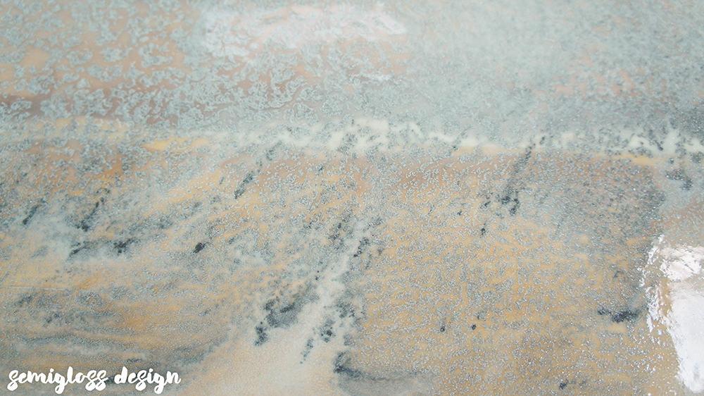 close up of epoxy countertop
