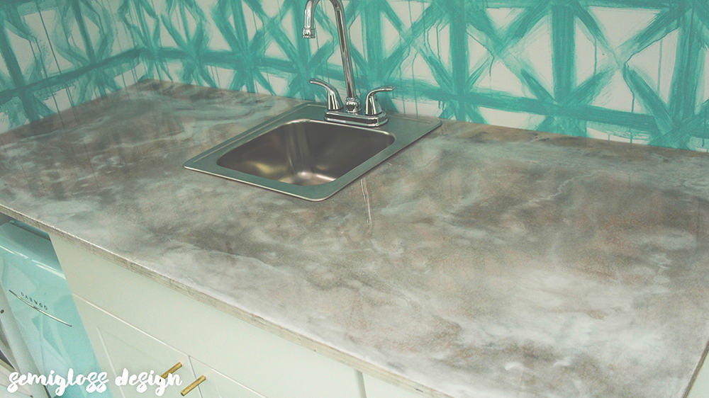epoxy countertop with sink