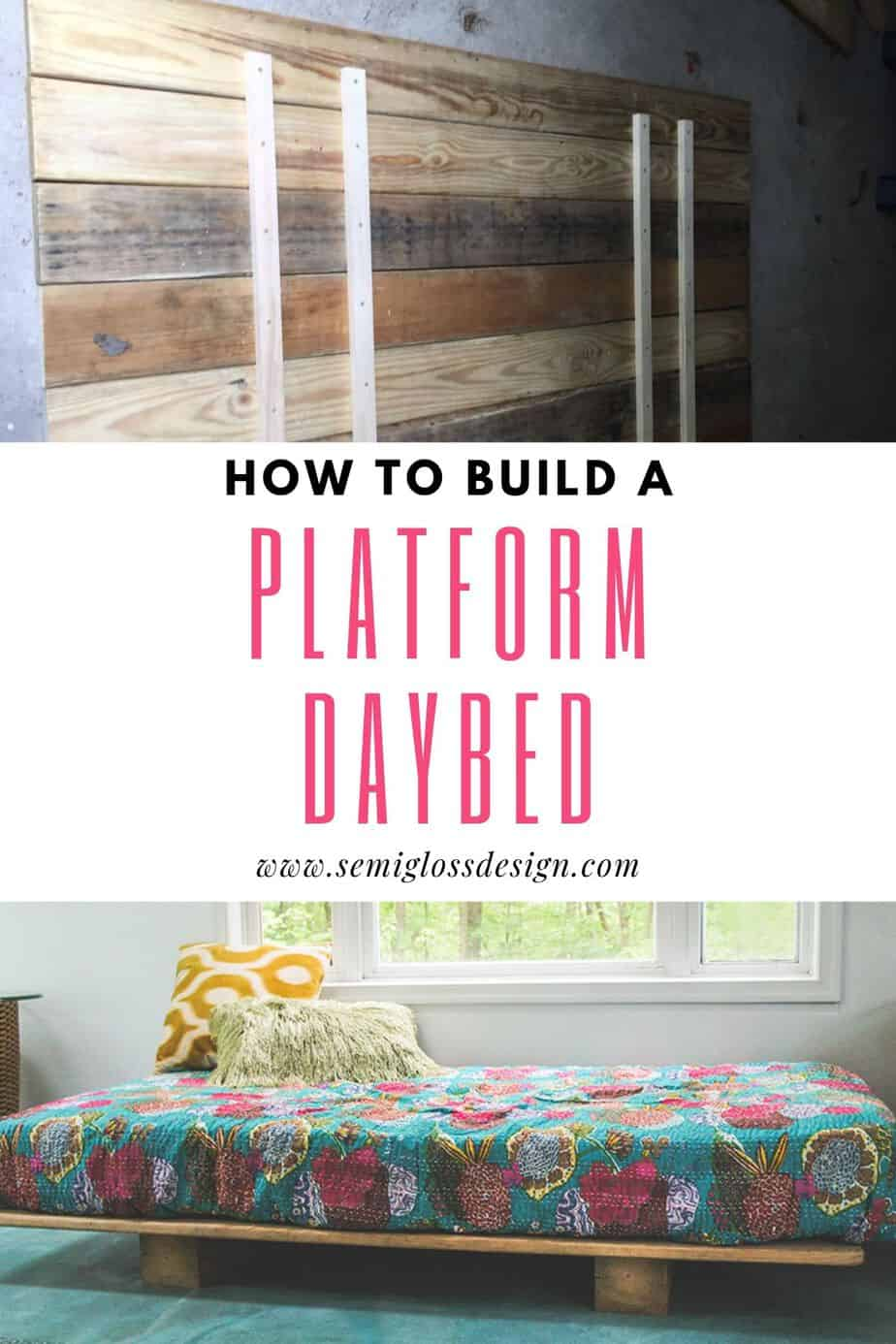 how to make a platform daybed