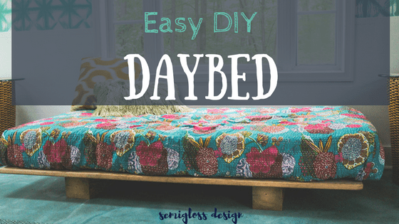 daybed DIY | easy DIY daybed | build a daybed | daybed plans | easy daybed | how to make a daybed | platform daybed | modern daybed | rustic daybed #daybed #DIYfurniture #DIYdaybed #easyfurniture