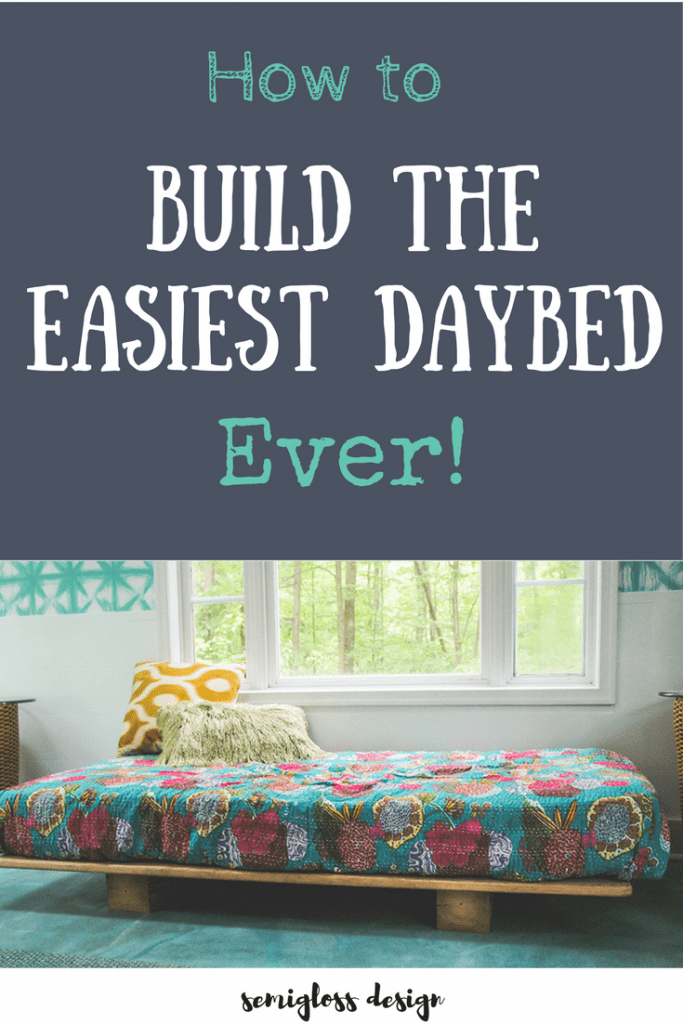 How to make a daybed