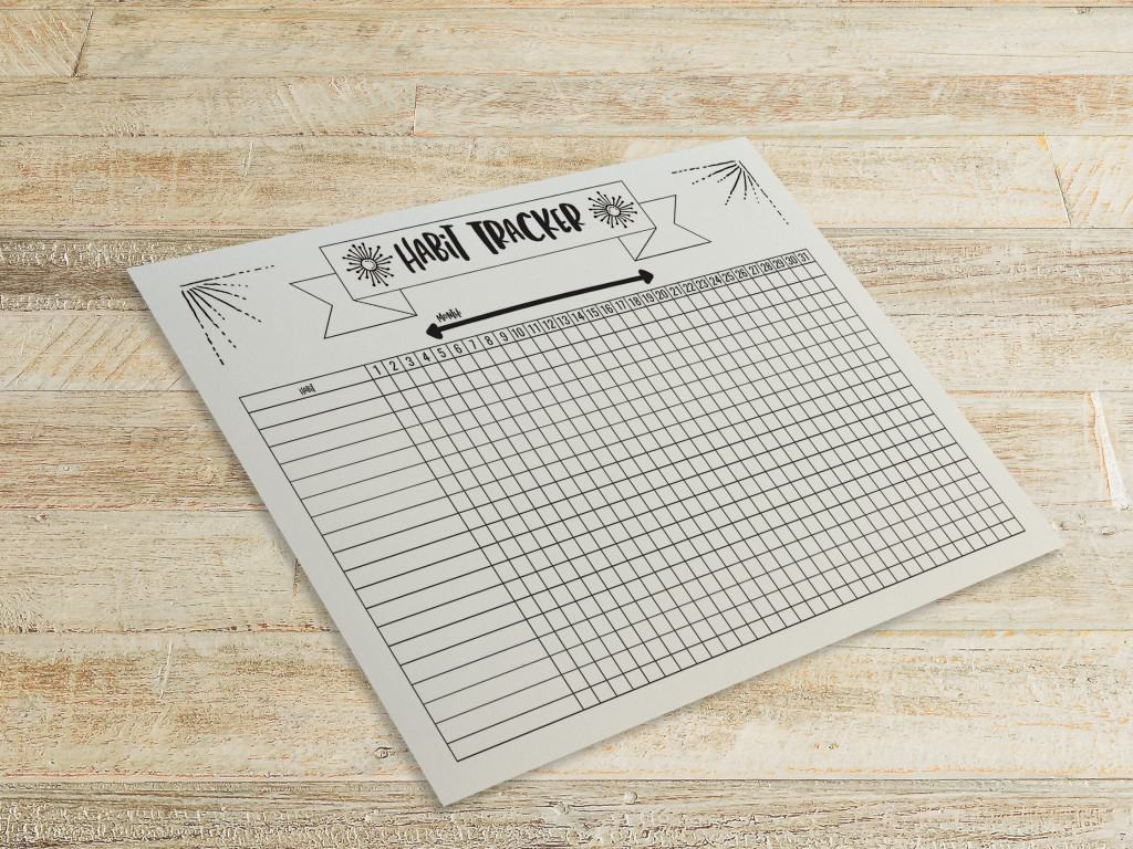 Free Printable Habit Tracker For Planner Semigloss Design